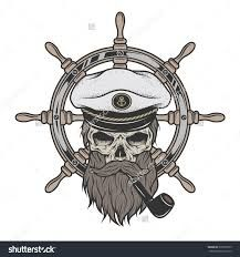 Resultado de imagen para sea captain's skull tattoo