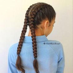 Dutch Braids Boxer-braids Have a fabulous Monday -You can find Dutch and more on our website.Dutch Braids Boxer-braids Have a fabulous Monday - Box Braids Hairstyles, Braided Hairstyles For School, Teenage Hairstyles, Simple Hairstyles, Curly Hairstyles, Pretty Hairstyles, Hairstyle Ideas, Braids For Short Hair, Braids For Long Hair