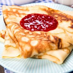 Crêpes à la vanille Crepes And Waffles, Pancakes, Grand Marnier, Deserts, Cooking Recipes, Ethnic Recipes, Sweet, Food, Essen