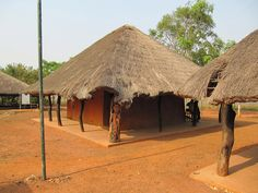 Pretty African Architecture at Archaeological Park of Agongointo, Bohicon, Benin, West Africa by Bencito the Traveller, via Flickr