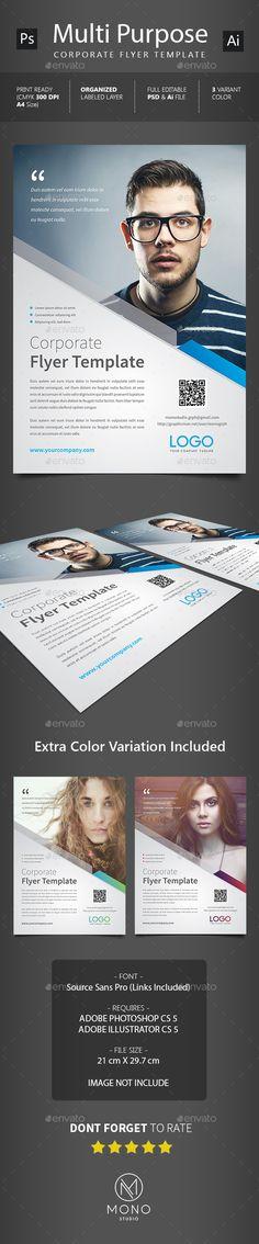 Corporate Flyer Template PSD, Vector AI #design Download: http://graphicriver.net/item/corporate-flyer-template/14067526?ref=ksioks