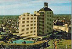 The glamorous Shamrock Hilton Hotel. 1960's