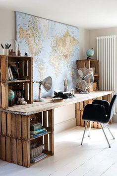 escritorio huacales Más