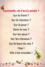 comptine printemps coccinelle French Teaching Resources, Teaching French, What Is Parenting, Parenting Ideas, Nanny Activities, Childcare Activities, French Poems, French Nursery, Birthday Charts