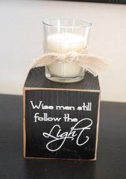 """Wisemen Still Seek Him"" Candle Block {how-to}"