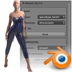 Manuellab - Blender addon to make humans