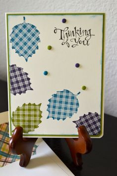 Thinking of You in Fall Card by TheRoundedCorner on Etsy