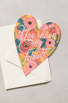 You Have My Heart Card by Rifle Paper Co. #anthroregistry