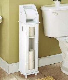 Furniture Style Toilet Roll Storage Holds Up To Four Rolls Inside And A Roll  In Use On The Top. A Great Space Saving Addition To Your Bathroom, ...