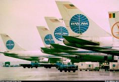 Pan Am at its World Port terminal JFK... takes my breath away looking at the blue globed tails!