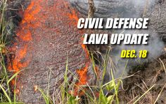 Lava advanced 50 yards since 6:30 a.m. this morning remains about 0.8 miles upslope of the Highway 130 and Pahoa Village Road intersection.