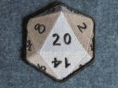 LIKE ME TO FACEBOOK!!    This D20 iron on patch is fully embroidered and measures 3.42 x 3.28    THIS PATCH CAN BE CUSTOM MADE IN YOUR CHOICE OF