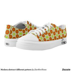Modern abstract different pattern printed shoes