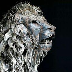 Funny pictures about Metal Lion Sculpture By Selcukk. Oh, and cool pics about Metal Lion Sculpture By Selcukk. Also, Metal Lion Sculpture By Selcukk photos. Sculpture Metal, Lion Sculpture, Abstract Sculpture, Wow Art, Animal Sculptures, Clay Sculptures, Art Plastique, Oeuvre D'art, Art Photography