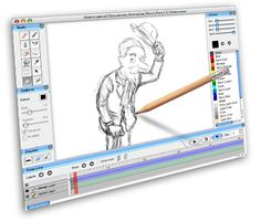 Pencil is an animation/drawing software for Mac OS X, Windows, and Linux. It lets you create traditional hand-drawn animation (cartoon) using both bitmap and vector graphics. Pencil is free and open source.