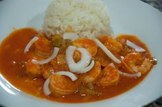 Haitian Shrimp in creole sauce is a common dish served mainly near the costal cities of Haiti. Ingredients in the dish vary from village to village, but is always the same at its base.