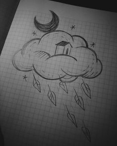 Simple but beautiful drawing. One relaxes and forgets all the prob - Simple but beautiful drawing. One relaxes and forgets all the prob … – - Cool Art Drawings, Pencil Art Drawings, Art Drawings Sketches, Doodle Drawings, Beautiful Drawings, Doodle Art, Fun Easy Drawings, Cute Drawings Tumblr, Art Sketchbook