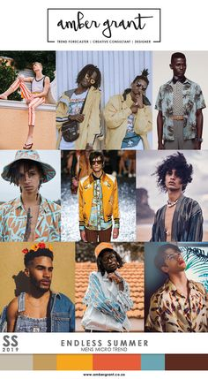 SS19 Mens Micro Trend: Endless Summer www.ambergrant.co.za #SS18 #SS2018 #SS19 #SS2019 #Trend #MicroTrend #TrendAlert #MensTrend #TrendForecaster #Trendy #Trending #Fashion #MensFashion #StreetStyle #TrendSetter #Style #UrbanFashion #SummerTrend #BotanicalPrint #Retro #Throwback #RetroCool #Tailored #AmberGrant #FashionBlogger #Editorial #FashionBlog #WGSN