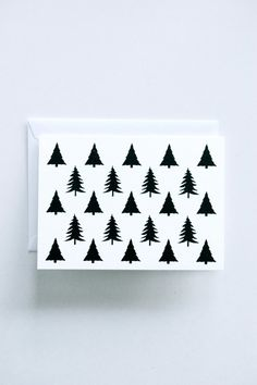 Evergreen  Letterpress Printed Holiday Cards by inhauspress, $5.00