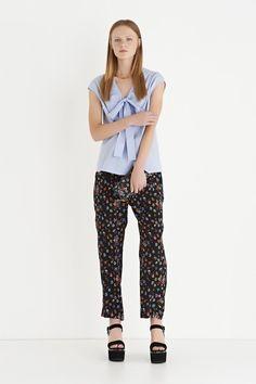 Camicia in cotone con fiocco sul retro