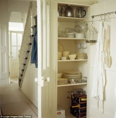 pantry cupboard  austerity chic  victorian scullery kitchen
