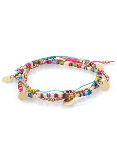 Neon Disc and Coin Anklet Pack