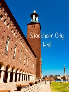 The Stockholm City Hall is one of Sweden's most famous buildings, and one of the capital's most visited tourist attractions. Stockholm Travel, Visit Stockholm, Stockholm City, Stockholm Sweden, Places To Travel, Places To Go, Baltic Cruise, Famous Buildings, Gothenburg