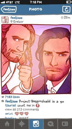 Image result for The Hobbit social media AU by cargsdoodles