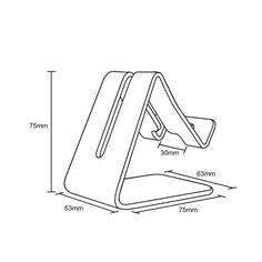 Aluminum mobile phone holder and stand. Is a tablet holder for iPhone 7 Smartphone.