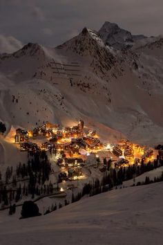 La Plagne, in the French Alps is one of the most breath taking places to visit! ❤️
