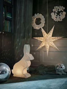 Ikea jul 2018 vinter kanin och kransar