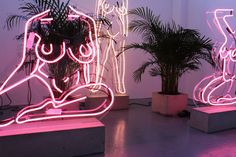 The Artist Making Neon Nudes For The Instagram Age #refinery29uk