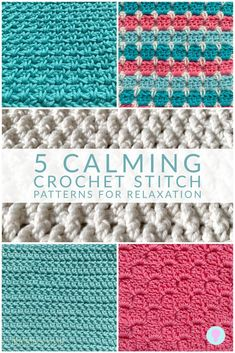 Learn about the mindful soothing benifits of crochet along with 5 crochet stitch patterns which are relaxing to make and calming for the mind. Crochet Box Stitch, Crochet Stitches Chart, Crochet Stitches For Blankets, Afghan Crochet Patterns, Crochet Hooks, Stitch Patterns, Stitch Box, Crochet Stitch Tutorial, Knitting Patterns