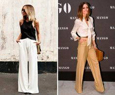 calça pantalona de seda Man Go, Ideias Fashion, Pants, Natural Styles, Plus Size Women, Different Styles, Silk, Trouser Pants, Women's Pants