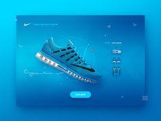 Beautiful UI Inspiration by Dennis Sevryukov — Muzli -Design Inspiration Design Your Own Website, Website Design Layout, Layout Design, Web Layout, Website Designs, Print Design, Nike Design, Ui Ux Design, Sport Design