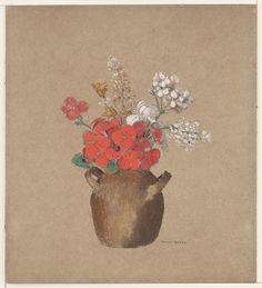 Odilon Redon. Vase of Flowers. (c. 1905)