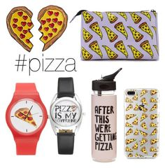 """#pizza #yellow"" by neringalampickaite ❤ liked on Polyvore featuring Forever 21 and ban.do"
