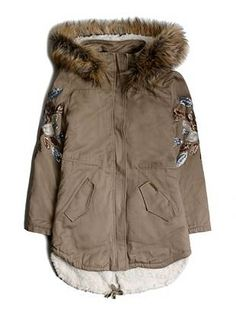 Embellished Coat (7-16) | guess kids