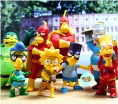 New 5 inch  8pcs/Lot The Simpsons Action FIgures Homer Simpson NEW