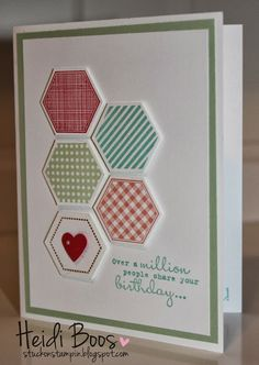 Stuck on Stampin': in color hexagons (& thank you thursday!)
