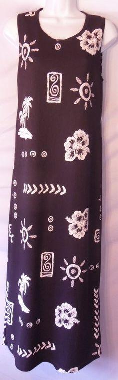 BEAUTIFUL! Women Sz 6/8 M Long Cotton Lightweight Resort Sundress With Side Slits #ResortWear #CoverUp #Resort #Fashion #Dress