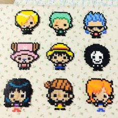 One Piece characters perler beads by tweety_98