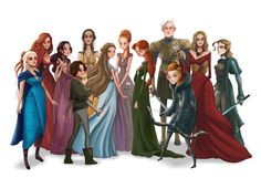 Women of GAME of THRONES (Song of Ice and Fire) art painting print, signed by…
