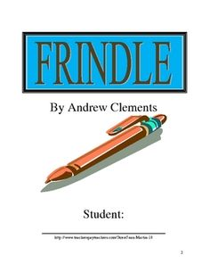 This 21-page, ready-to-use packet is intended for use with students reading Frindle, by Andrew Clements.  Included is a vocabulary bookmark master,...