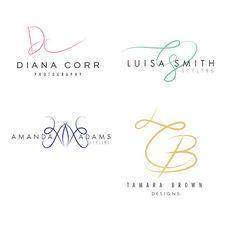 Custom Handwritten Initials Logo Design by silviawrengraphics