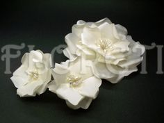 Ivory Rose Hair Wedding Dress Bridal Veil Accessory Pearls Swarovski | Floreti - Wedding on ArtFire. $161.59