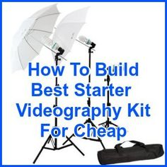 Get Shooting: How To Build Your Starter Videography Kit For Around $1000 ... see more at InventorSpot.com