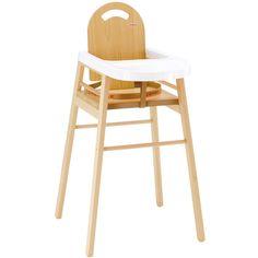 Une chaise haute par Combelle aux formes épurées, simple et très pratiquequi s'intègrera facilement dans votre intérieur et permettra à bébé de prendre ses premiers repas sereinement.