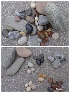 """Garden Maths... sorting stones - from Rachel ("""",)"""