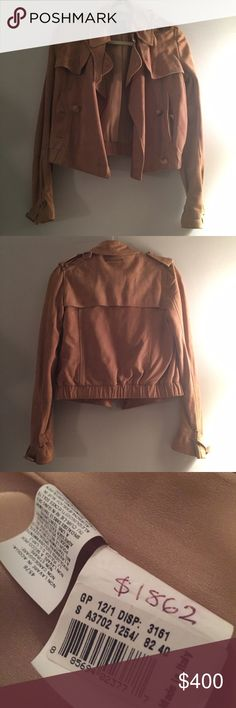 Jean Paul Gaultier Suede Cropped Trench Jacket Marked as FRENCH 38 & US 6. Sample from the showroom. I used to do PR for JPG. Killer piece. $1862 is the whole sale price. Retail 3k. NO TRADES. Jean Paul Gaultier Jackets & Coats